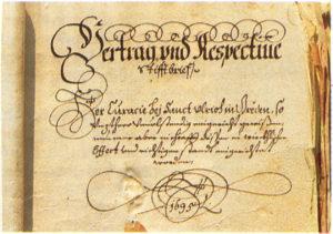 0 Stistbrief 1695